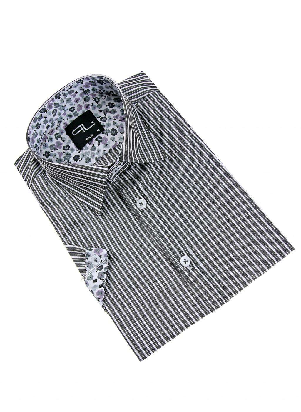 Рубашка в серую линию