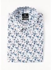Рубашка в авангардный цветок